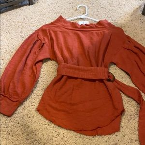 NWT-We the Free-Free People Belted Top-Size XS-$88